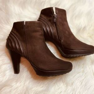 PAUL GREEN Joslin Pleated Bootie rown 6-6.5